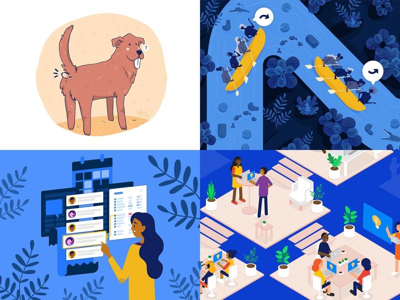 Top 4 2018 top4shots2018 top42018 top4shots leadership branding ui design flat design cute digital painting vector illustration