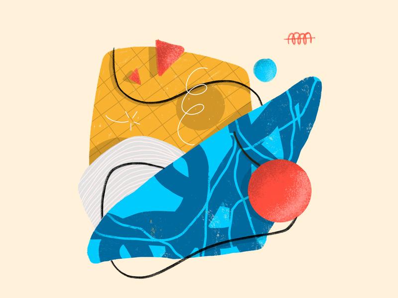 Abstract June 2019 ☺️ triad vector branding editorial illustration freelance designer procreate ipad 3d patterns abstract design digital painting illustration