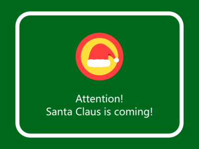 Christmas Warning Inside A Car