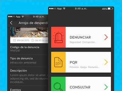 Complaints app app modern clean mobile flat ui