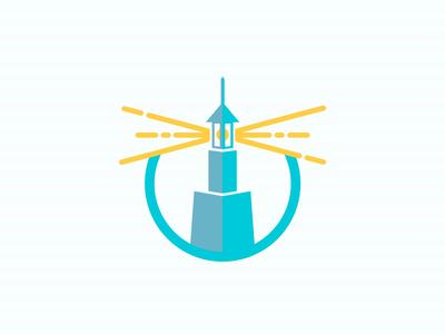 Alexandria Lighthouse iconic sea vector blue line flat icon