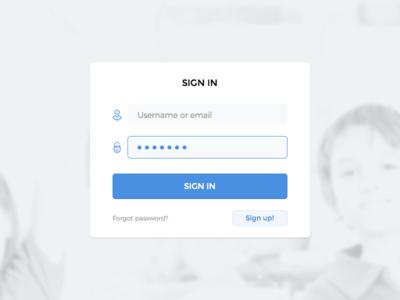 Login flat soft clean minimal sketch password user interface ui login
