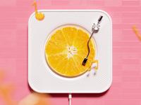 Orange Phonograph