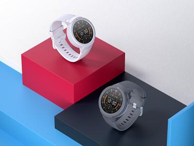 Smartwatch rendering product render smartwatch 小米 amazfit c4d