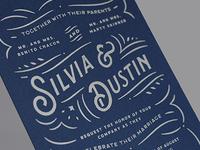 Silvia & Dustin Wedding Invitations