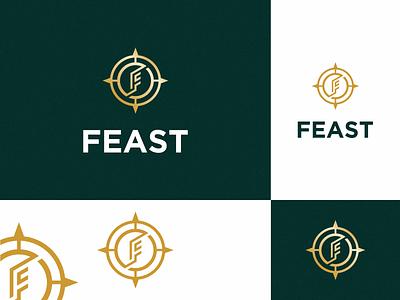 Feast feast logo feast premium logo minimalist logo letter f logo letter f typography vector color branding logo