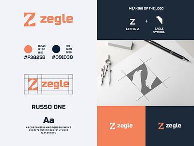 Letter Mark Z and Eagle Logo visual identity brand book brand identity logo designer negative space logo eagle logo eagle letter z logo letter z vector brand typography branding logo