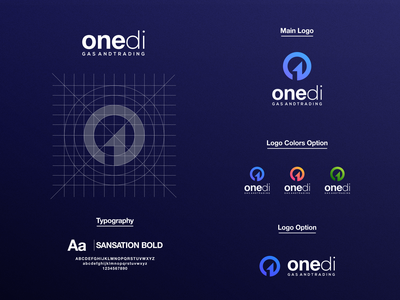 One Di Logo prio hans logo designer visual identity brand guide meaningful logo dual meaning logo brand identity oil and gas number one one logo one colorful vector brand typography branding logo