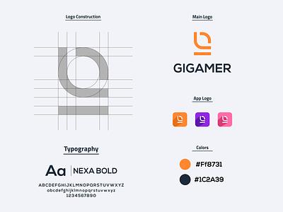 Lettermark G Logo ui brand vector prio hans brand identity gaming logo gaming logo designer logo process brand guideline letter g logo letter g typography branding logo