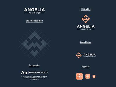 Letter mark A and W Logo icon letter aw logo letter aw letter w letter a app ux ui typography vector branding logo