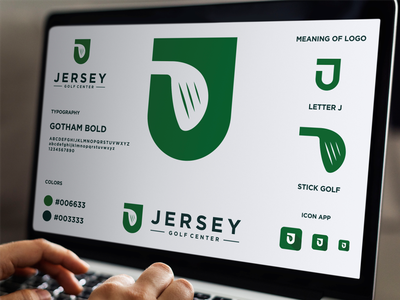 LETTER MARK J AND GOLF LOGO grafast design sports logo sport green stick golf golf logo golf letter j logo letter j ux ui app vector typography branding logo