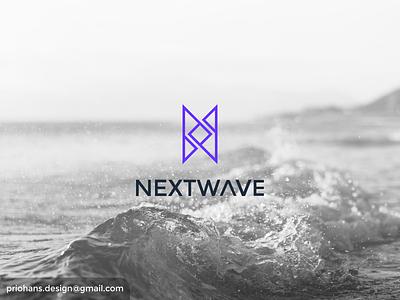 Next Wave Logo wave logo wave color exclusive logo minimalist logo minimalist n logo letter n app vector typography branding logo