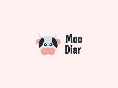 Cow Logo with Circle Construction logo process moo logo prio hans golden ratio logo circle cute logo cartoon logo app cow logo cow typography vector brand branding logo