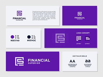 Financial Superior Logo prio hans logo designer fs logo finacial logo brand guide brand design icon typography branding vector logo