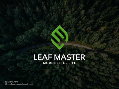 LEAF MASTER LOGO lm logo health nature logo leaf logo logo designer vector brand color typography prio hans illustration branding logo