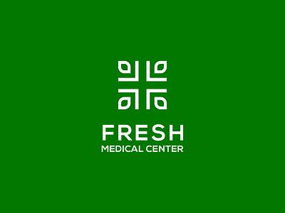 Fresh Medical Center Logo green leaf logo leaf medical logo fresh logo fresh icon prio hans typography brand vector branding logo