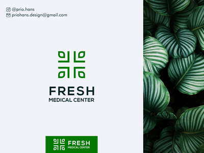 Fresh Medical Center Logo green leaf logo leaf medical logo fresh logo fresh icon prio hans typography brand vector branding logo