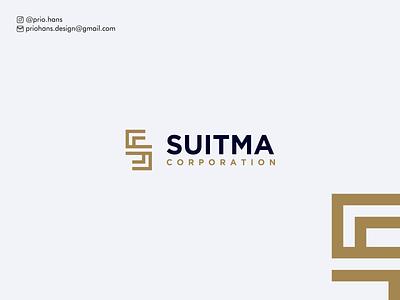 Letter S Logo for Suitma Corporation letter s logo slogo sletter letters designer brand identity prio hans app typography color brand vector branding logo