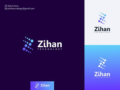 Zihan Technology exclusive logo logo designer modern colors prio hans colorful app letter z logo letter z color typography brand vector branding logo