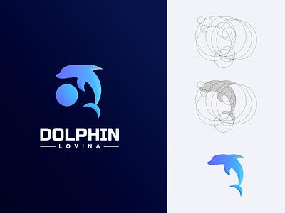 Dolphin Logo ux ui prio hans logo designer modern color dolphin logo dolphin design illustration typography color brand vector branding logo