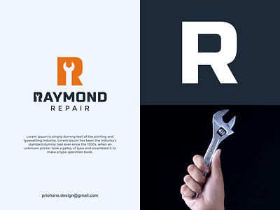 Repair Logo repair repair logo letter r logo letter r illustration design prio hans typography color brand vector branding logo