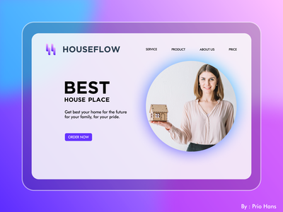 LANDING PAGE FOR HOUSE DEVELOPMENT COMPANY interface webiste design home landing page house landing page landing page web design ux ui design illustration prio hans typography color brand vector branding logo