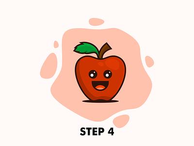 Apple Cute Mascot cute apple fruit cute cartoon apple mascot mascot apple cartoon logo cartoon prio hans typography color brand vector branding logo