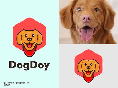 DOG LOGO cartoon logo cartoon dog logo dog design prio hans typography color brand vector branding logo
