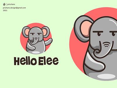 Elephant Mascot Logo cartoon elephant mascot cute elephant mascot logo elephant logo elephant illustration design prio hans typography color brand vector branding logo