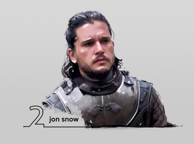 jon snow digital painting (kit harington)