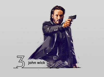 john wick digital painting (keanu REEVES)