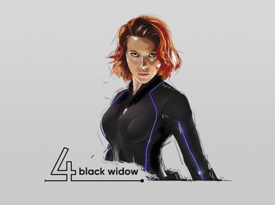 black widow digital painting (Scarlett Johansson)