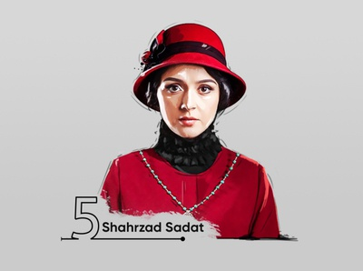 shahrzad saadat digital painting(taraneh alidosti)