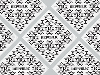 Republic Bandana identity geometric design triangle pattern geometric qualtrics branding typography bandana dallas texas