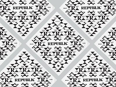 Republic Bandana identity geometric design triangle pattern geometric qualtrics branding typography bandana dallas texas
