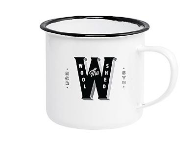 The Woolshed Mug design identity qualtrics typography type branding cup mug animal wool sheep australia sydney