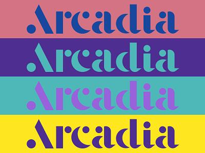 Arcadia laser tag videogames arcade game games arcade logo type typography branding identity burley idaho