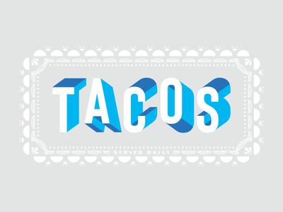 TACOS dimension apparel utah design qualtrics typography type food tacos taco