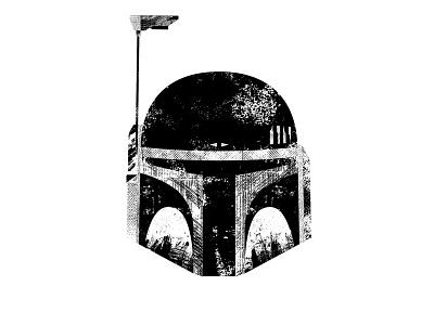 Boba Fett typography type distressed texture bountyhunter rogue scifi armor helmet mandalorian starwars bobafett