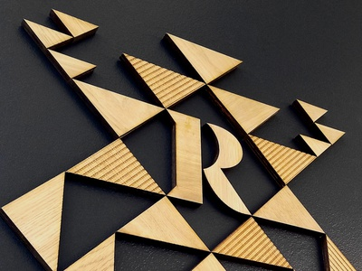 Republic Signage texas identity bar cantina dallas wood geometric signage typography type qualtrics branding