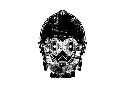 C-3PO typography type droid robot texture sci-fi scifi sci fi mask c3po starwars star wars