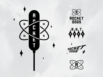 Rocket Dogs retro idaho branding hot dog hotdog rocket space cosmic snack food corn dog