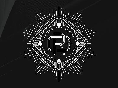Casino Royale qualtrics monte carlo gamble bond badge seal monogram starburst club diamond spade heart casino