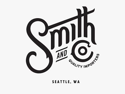 Smith and Co. seal badge serif washington food logo typography type qualtrics seattle restaurant coffee