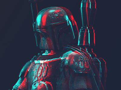 Boba Fett disney hero villain armor mask rocket poster boba fett star wars