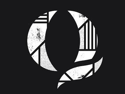 The Q tech provo utah apparel typography type distress halftone q tee shirt qualtrics
