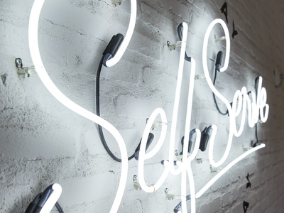 The Hub Neon Sign sign neon food provo utah hub typography type restaurant diner brick qualtrics