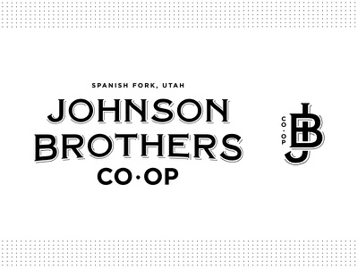Johnson Brothers Co-Op market retail serif brothers typography type black coop badge seal