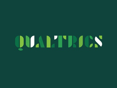 Go Green modular texture conservation recycling typography type qualtrics green