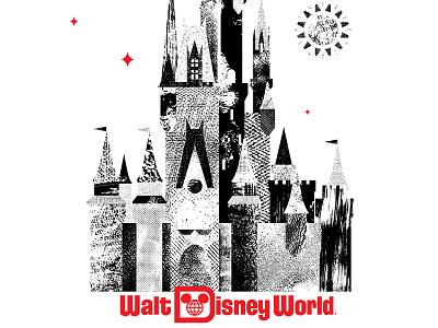 WDW Cinderella Castle distressed texture flag cinderella florida stars sun castle orlando disney walt disney world